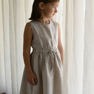 Minimom 미니맘 SS20 / Sienna Dress - natural checked
