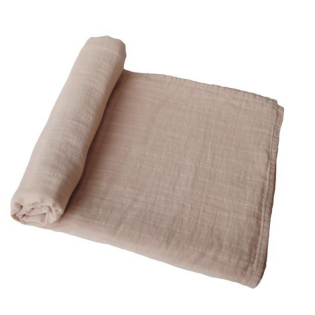 mushie 스와들 / Pale Taupe Muslin swaddle blanket 100% cotton