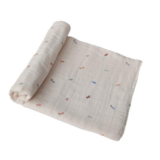 mushie 스와들 / Retro cars Muslin swaddle blanket 100% cotton