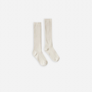 Rylee and Cru 라일리앤크루 SS20 / Solied Ribbed Socks_Natural