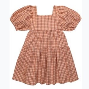 The New Society SS21 / ARLETTE DRESS_CARAMEL CHECK /  더뉴소사이어티 드레스